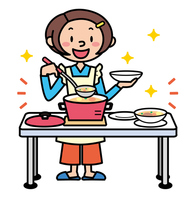 Pot cooking woman illustrations [3905928] Cooking