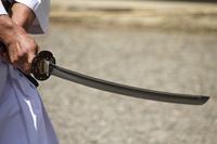 Japanese sword stock photo