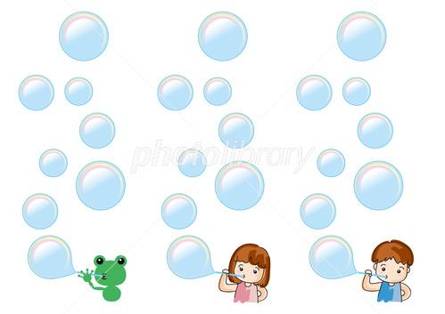 しゃぼん玉 イラスト素材 3990602 無料 フォトライブラリー