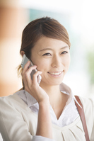 Businesswoman to call in the smartphone Stock photo [3986573] A