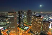 Shinjuku skyscrapers Stock photo [3988182] Night