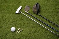 Golf ball and club turf back Stock photo [3993301] Golf