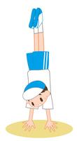 Boy to a handstand [3996469] Handstand