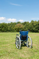 Wheelchair on the lawn Stock photo [4082684] Wheelchair