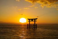 Lake Biwa torii Stock photo [4082833] Shiga