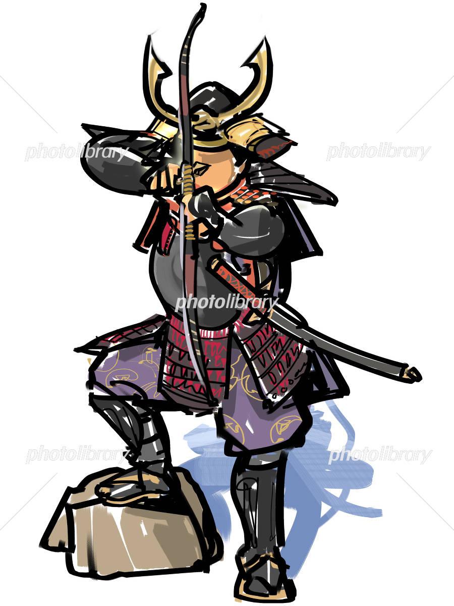 弓を弾く武将 イラスト素材 4155904 フォトライブラリー
