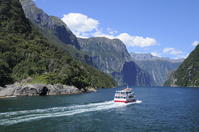 Milford Sound and the cruise ship Stock photo [4148486] new