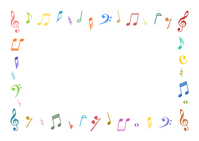 Note symbol frame colorful [4154027] note