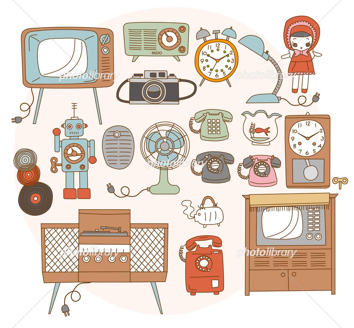 昭和のレトロ家電 イラスト素材 4196336 フォトライブラリー