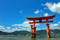 Itsukushima shrine Otorii Stock photo [4204781] Miyajima