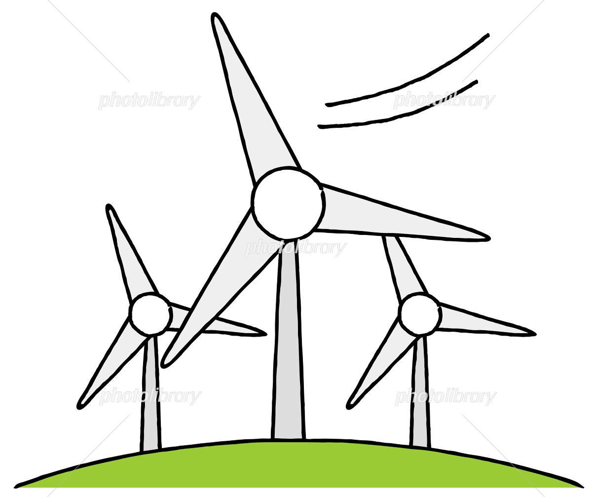風力発電 イラスト素材 4253329 フォトライブラリー Photolibrary