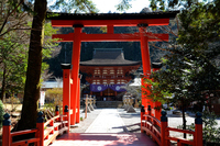 Torii and the main hall of the World Heritage Niutsuhime Shrine Stock photo [4242566] world