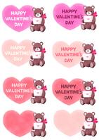 バレンタインハートくま