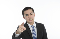 Pointing man provocation businessman Looking At Camera white back Stock photo [4245384] Point