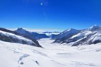 Aletsch glacier seen from the Swiss Jungfraujoch Stock photo [4246350] Switzerland