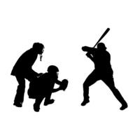 Baseball silhouette [4248338] baseball
