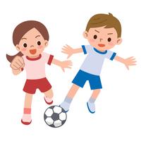 Children play soccer [4250941] Football