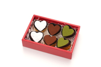Heart of chocolate background white Stock photo [4294893] Heart