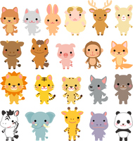 Various animals of a set of characters [4299405] animal