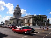 Old Parliament House before the classic car of Cuba's capital Havana Stock photo [4299540] Cuba