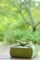 Gifts image wrapping cloth wrapped garden background Stock photo [4304151] Summer