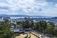 View from Matsue Castle castle tower Stock photo [4305948] Matsue