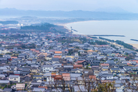 Izumo City and views of the Sea of \Japan from the dedication mountain park Stock photo [4307689] Izumo