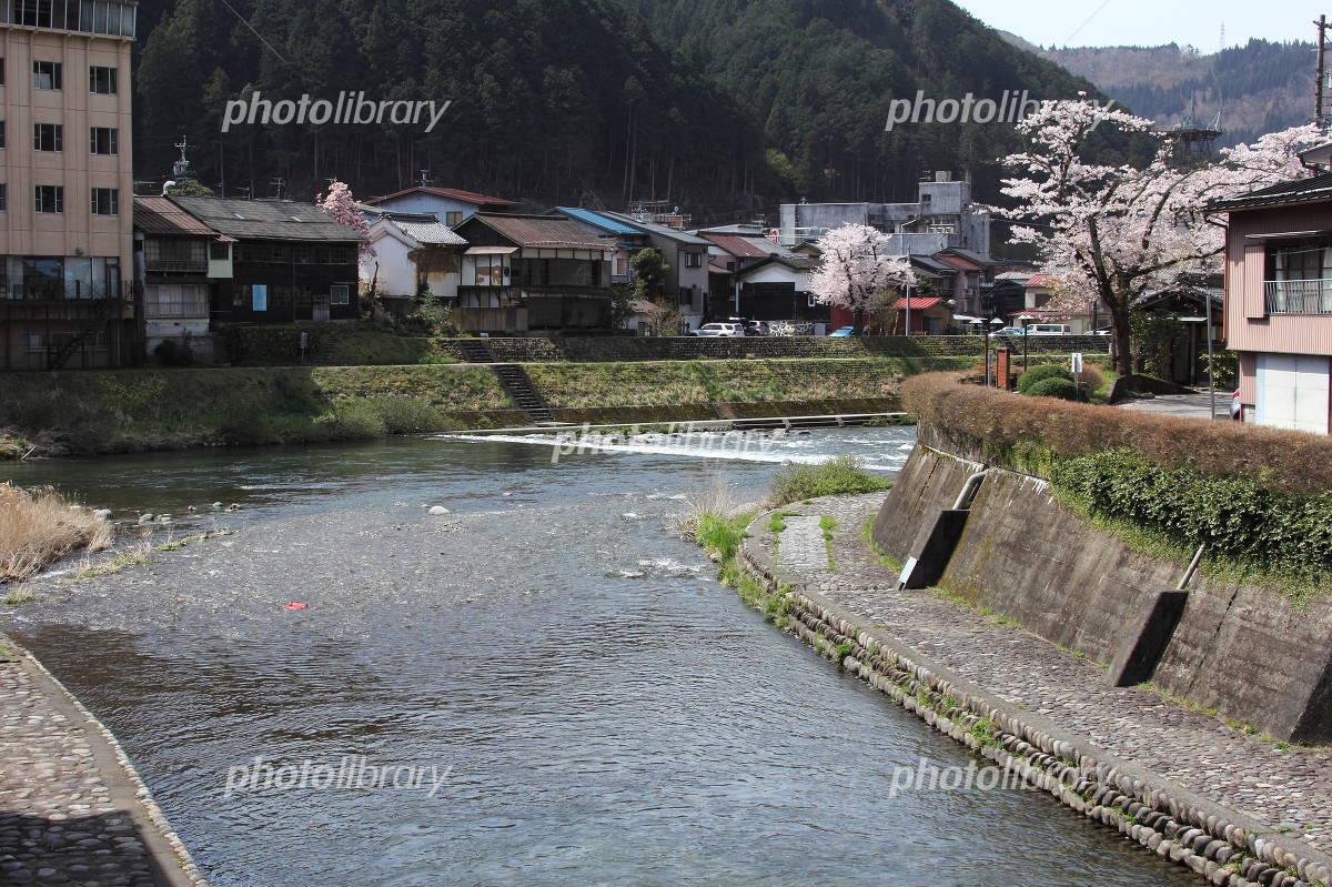 小駄良川と吉田川 合流点 写真素...