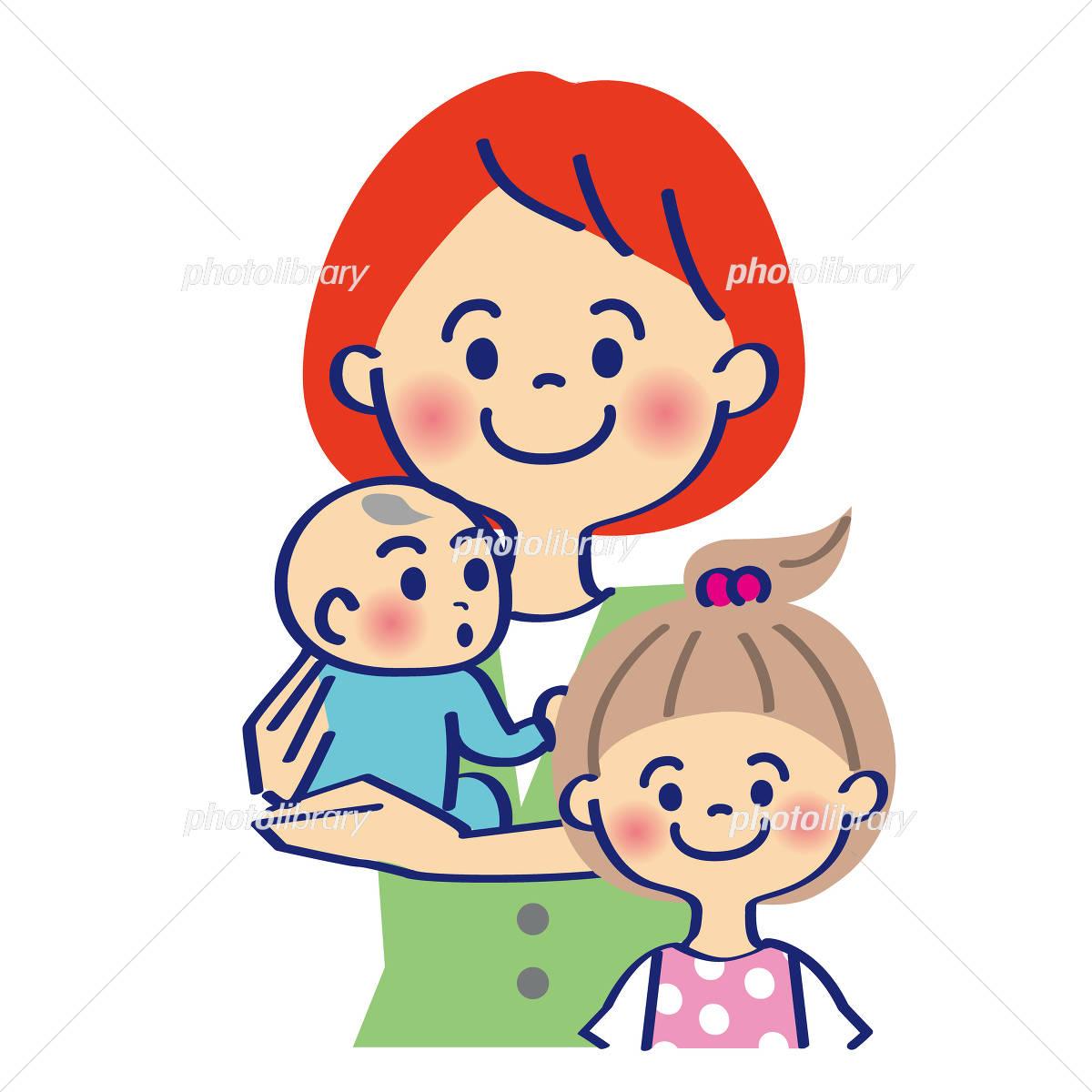 赤ちゃんを抱っこするママ イラスト素材 4392334 フォトライブ