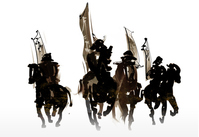 Cavalry warrior corps stock photo