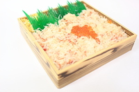 Crab sushi lunch