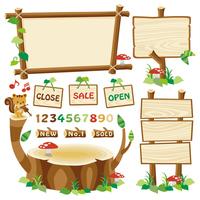 Signboard wooden frame stump [4389312] Signboard