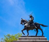 Date Masamune equestrian statue Stock photo [4392741] Sendai