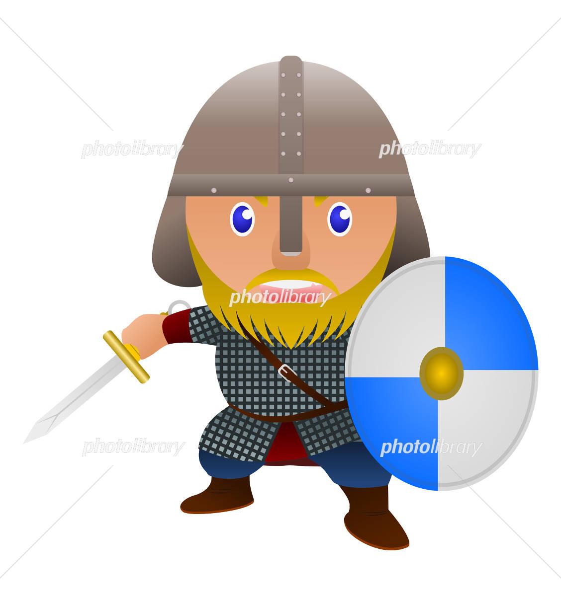海賊 ヴァイキングの戦士 イラスト素材 4460033 フォトライブ