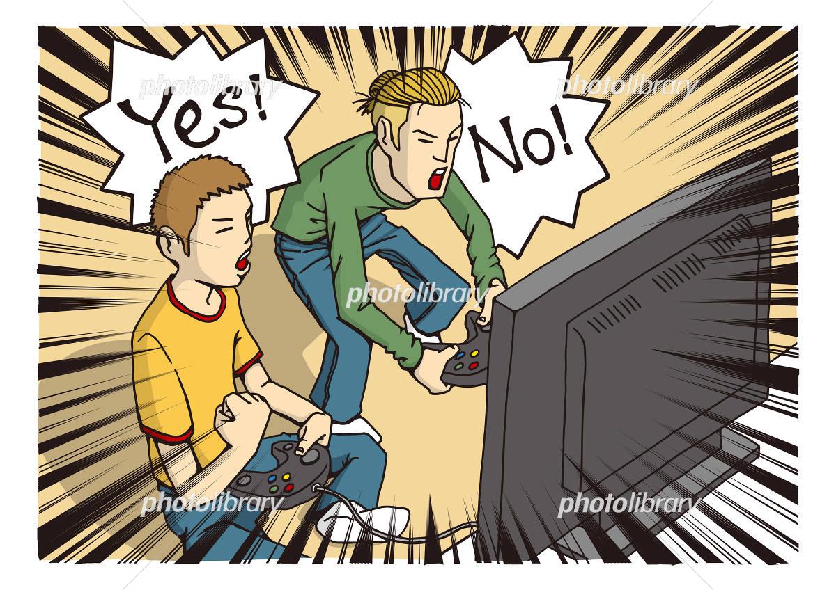 テレビゲームをする人のイメージイラスト イラスト素材 4468900