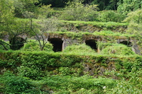 Iwamiginzan of streets Iwamiginzan ruins (Shimizutani smelter trace) Stock photo [4459196] Iwamiginzan