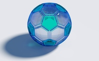 Glass of soccer ball [4460185] Glass