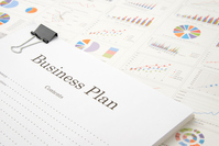 Business plans and business chart Stock photo [4460602] Business