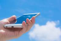 Blue sky and smartphone Stock photo [4461154] smartphone