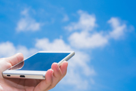 Blue sky and smartphone Stock photo [4461157] smartphone
