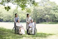Senior and helper Stock photo [4464057] Nursing