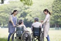 Senior and helper Stock photo [4464059] Nursing