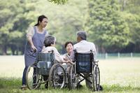 Senior and helper Stock photo [4464064] Nursing