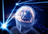 Brain image blue background [4464494] brain