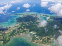 Ishigaki Island aerial photo (Okinawa) Stock photo [4465504] Isolated