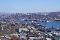 Takanosu Golden Horn as seen from the observatory Stock photo [4466442] Vladivostok