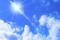 Blue sky and sun Stock photo [4467578] blue