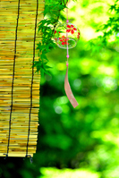 Summer tradition wind chimes and bamboo blind Stock photo [4469047] Wind