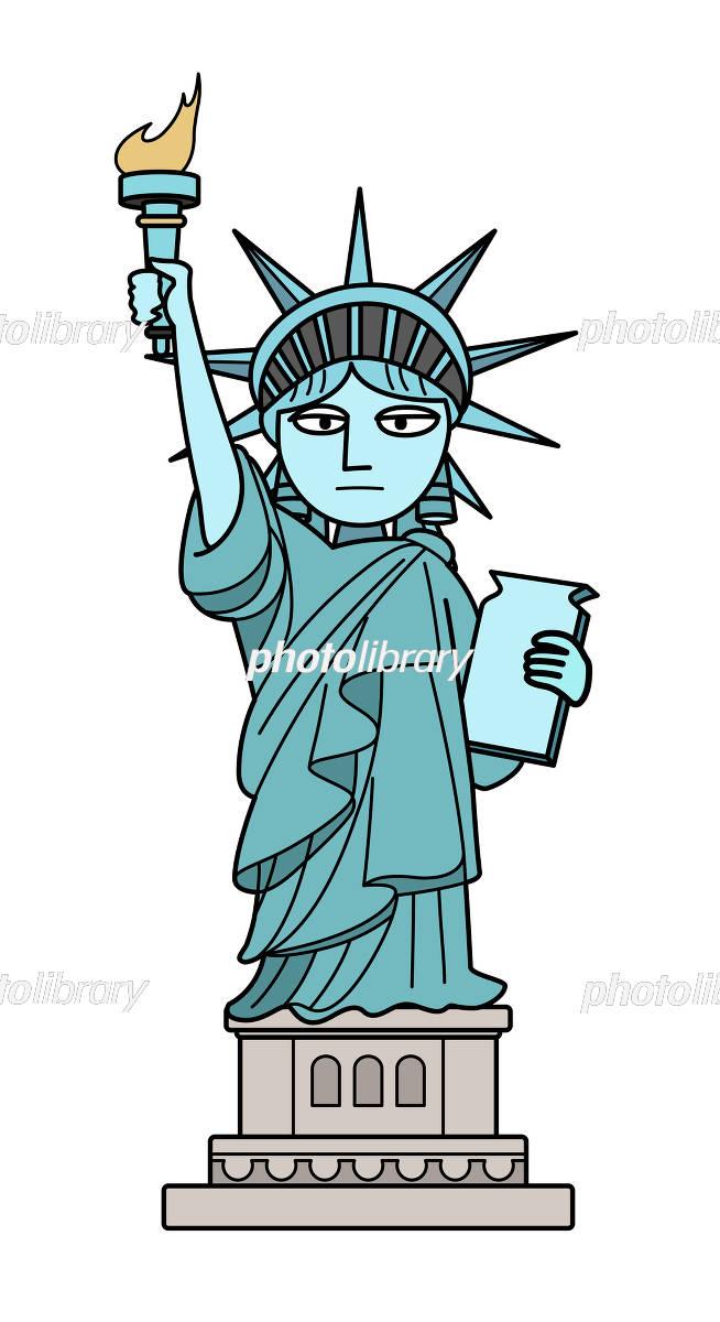 自由の女神 イラスト素材 4546833 フォトライブラリー Photolibrary