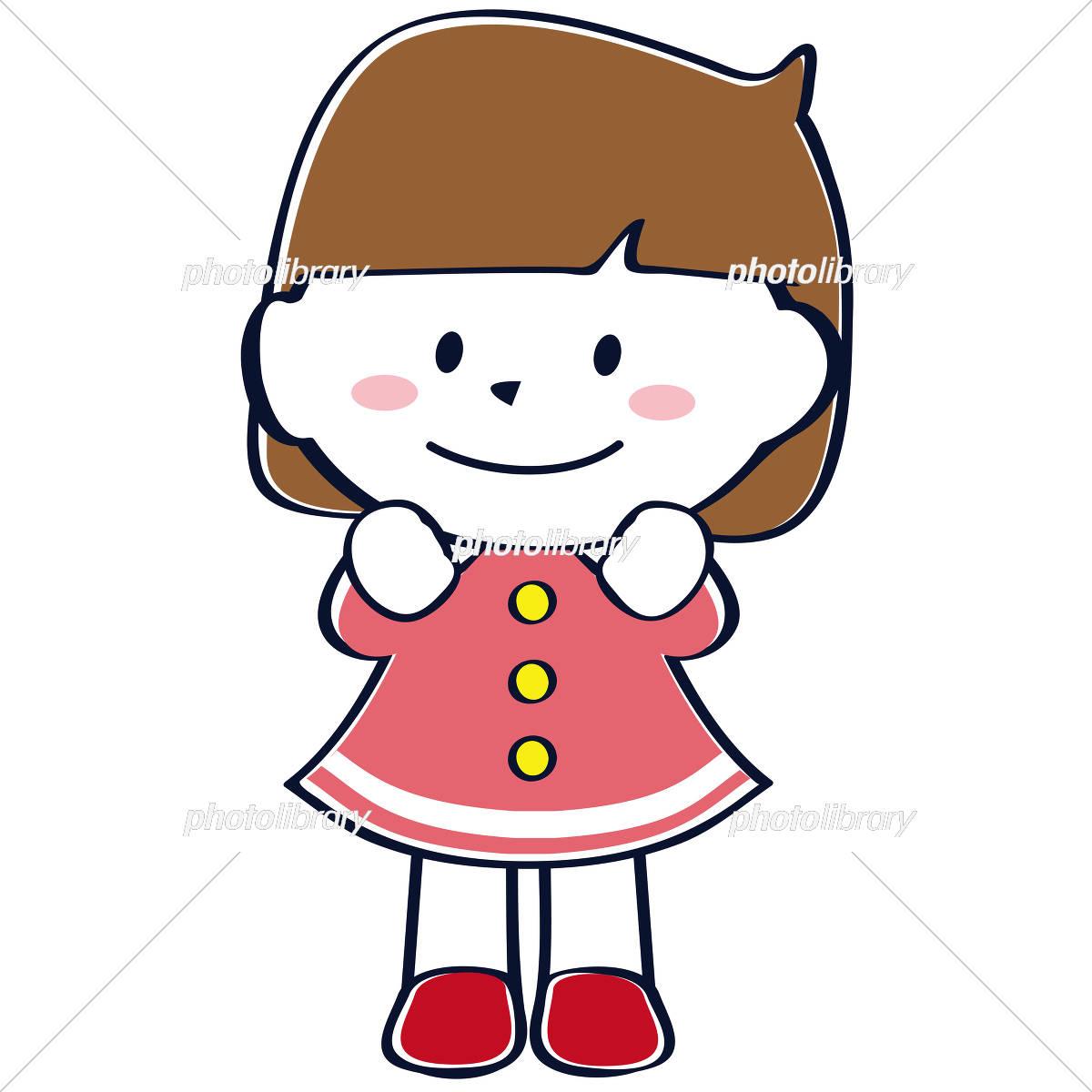 かわいい子供 おかっぱ女の子 イラスト素材 4552399 フォトライブ